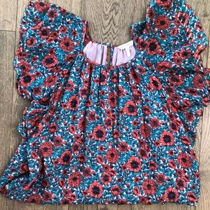 Rebecca Taylor bright flower dress.